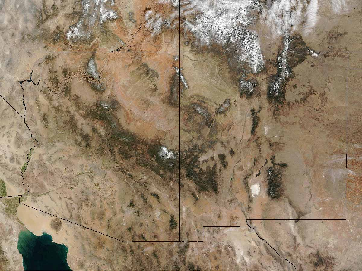 Satellite Map Of Arizona.The Mountain Community Why Flagstaff Arizona Geographic Alliance