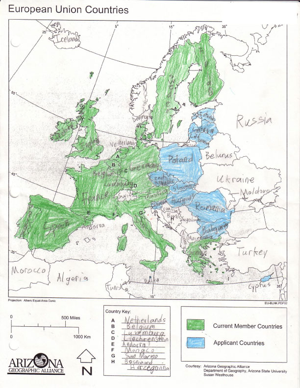 Map Of Europe Arizona Geographic Alliance  Tenbergfotografie